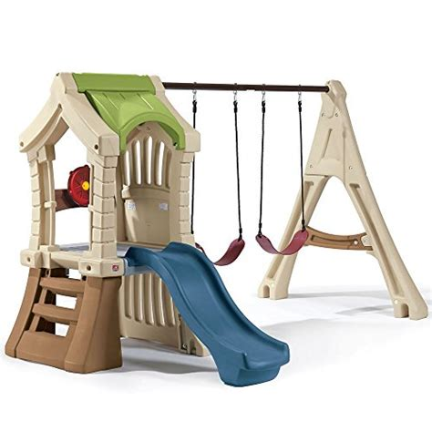 plastic swing and slide playset step2 swing set and backyard playset comb includes plastic