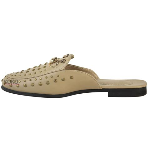 loafers for flat womens slip on flat sliders studded loafers smart