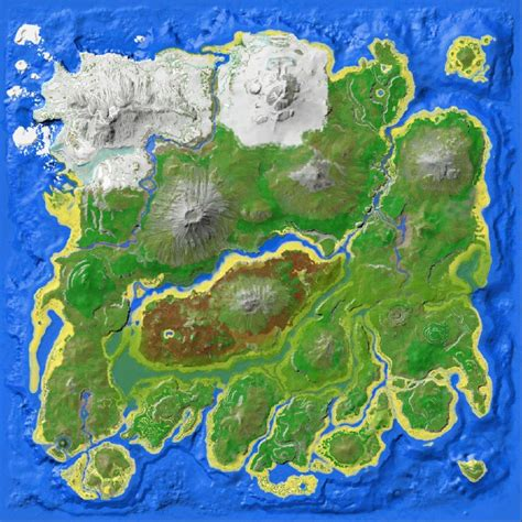 map islands resource map the island official ark survival evolved