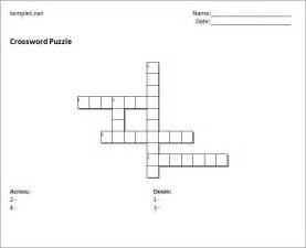 Crossword Puzzle Template by Blank Crossword Template Crossword Template Free