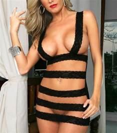 2014 new women s lingerie big size black lace dress