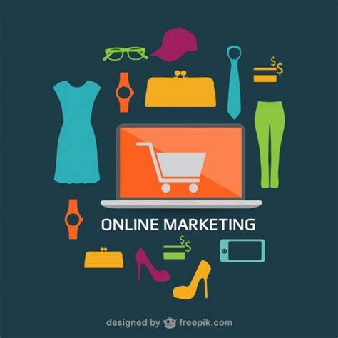 design online shop online shopping flat design concept image vector free