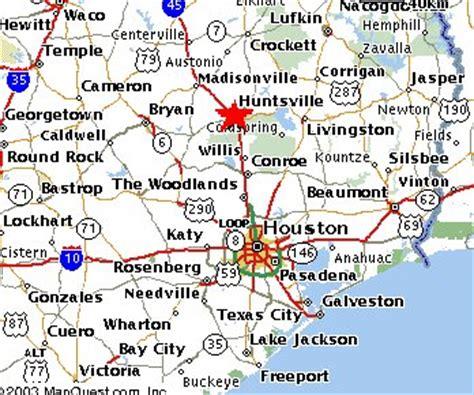 map of huntsville texas bedai ranch