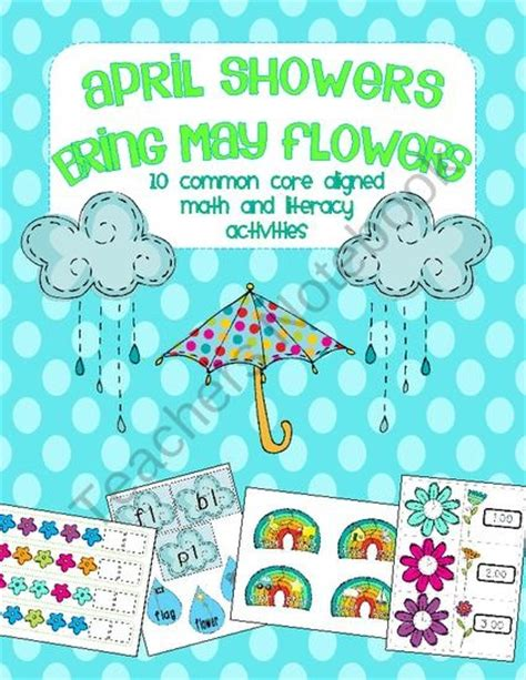 kindergarten themes for april and may april showers bring may flowers spring math and literacy