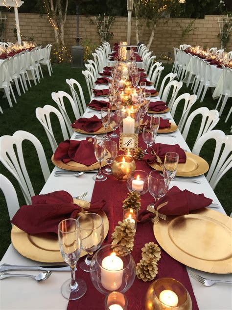 burgundy wedding table centerpieces burgundy table runners napkins wedding recycle