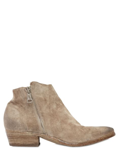 strategia 20mm suede ankle boots in lyst