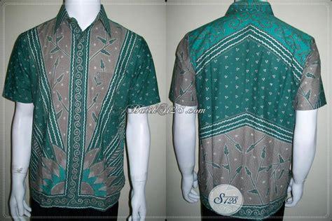 Gamis Batik Tulis Hijau batik kerja kantor pria elegan dan exclusive warna hijau