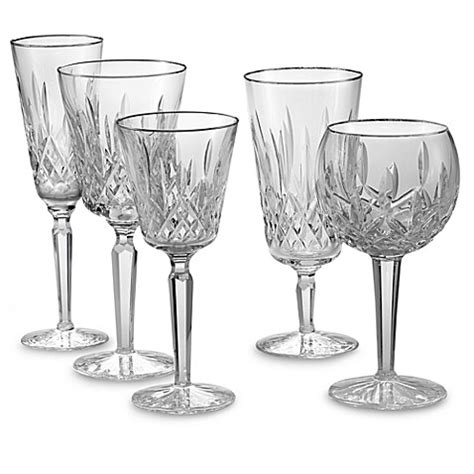 waterford barware waterford 174 lismore platinum crystal stemware and barware