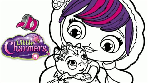 little charmers coloring pages nick jr little charmers lavender flare dragon nick jr colori
