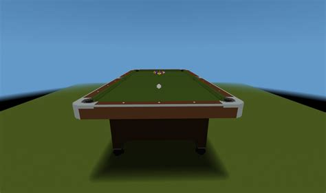 how to make a pool table pdf how to build a pool table in minecraft plans free