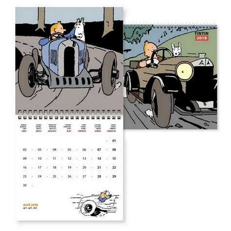Calendrier Tintin 2018 Tintin Herg 233 Papeterie Civile Calendrier 2018 Tintin