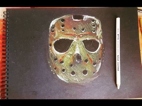 How To Make A Jason Mask Out Of Paper - jason voorhees mask friday the 13th speed drawing on