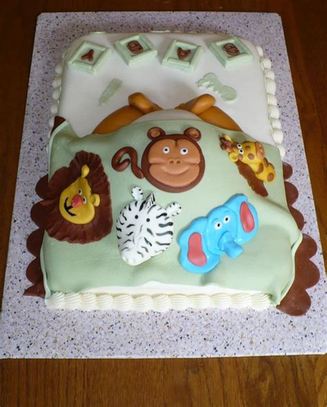 baby shower cakes animals deer and forest animal baby shower cake baking
