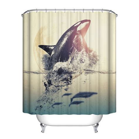 Shower Curtains With Fish Theme Fish Theme Bathroom Shower Curtain Home Decor Waterproof Polyester 12hooks Ebay