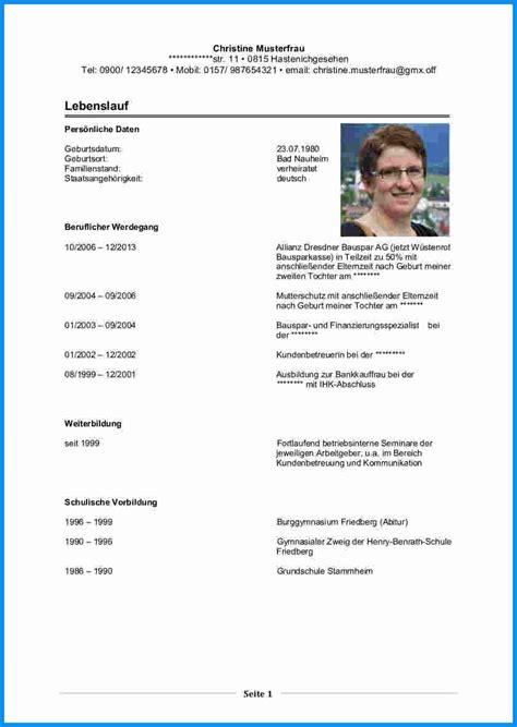 Tabellarischer Lebenslauf Vorlage Excel 7 Lebenslauf Elternzeit Business Template