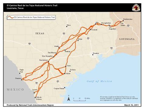 el camino map maps el camino real de los tejas national historic trail