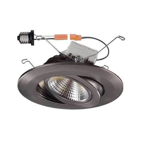 home depot can lights commercial electric 4 in soft white recessed led can disk