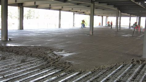 Concrete Deck Floor by Somero S840 On Metal Deck Laser Screed Technicon Laser
