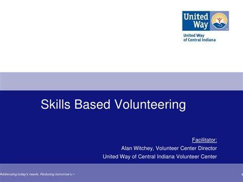 gcsv2011 skills based volunteering alan witchey