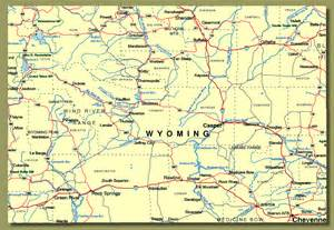 Map Of Wyoming State by Show Me Wyoming