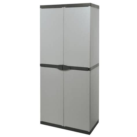 armadio in plastica armadio in plastica tuttopiani 168 cm grigio mongardi