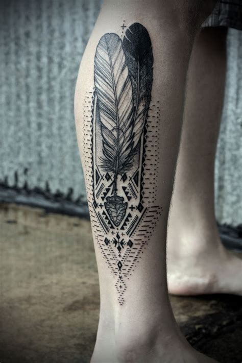 david hale tattoo david hale feather leg tattoos