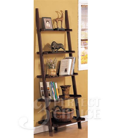 country living display ladder 5 tier leaning wall shelf