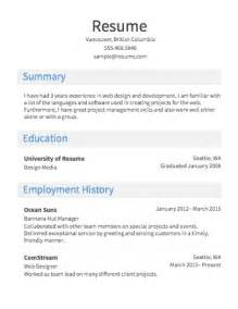 Job Resume Format Simple by How To Make A Simple Job Resume Simple Job Resume