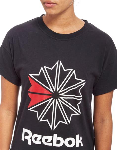 Tshirt Reebok Logo Black lyst reebok classics starcrest logo t shirt in black
