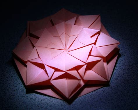 How To Make A Paper Octagon - origami octagon flower by charlessmithorg on deviantart