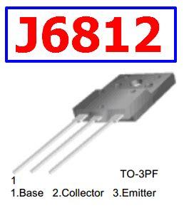 j6812 datasheet vcbo 1500v npn transistor fairchild