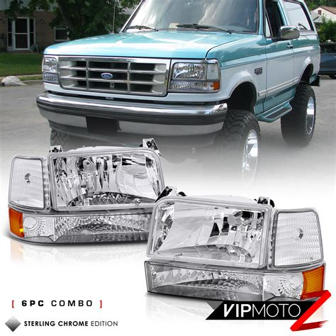 best car repair manuals 1992 ford f150 head up display 1992 1996 ford bronco f150 f250 f350 quot factory style quot 6p corner bumper head light cad 98 45