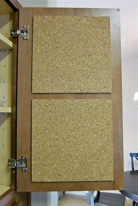 cabinet door coupon add cork board to the inside of a cabinet door for coupons