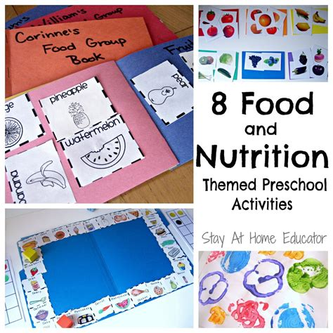 themes choices in learning and books eight food and nutrition theme preschool activities