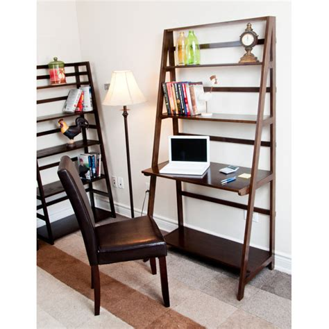 acadian combo ladder shelf desk at brookstone buy now