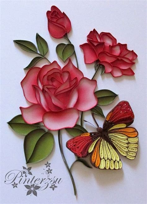 Paper Quilling Roses - 25 best ideas about quilled roses on quilling