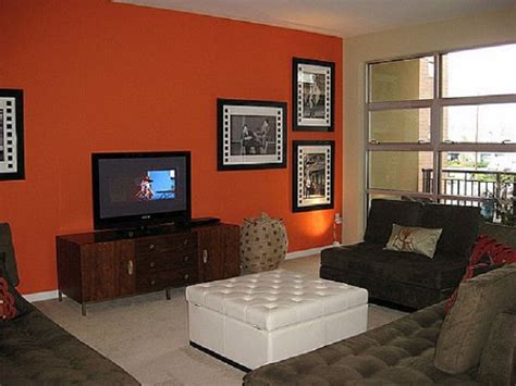 contemporary wall colors accent wall color modern design orange accent wall