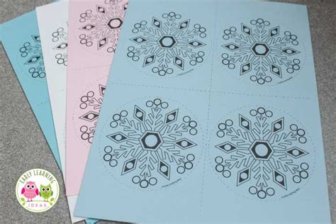 simple snowflake fine motor activity early