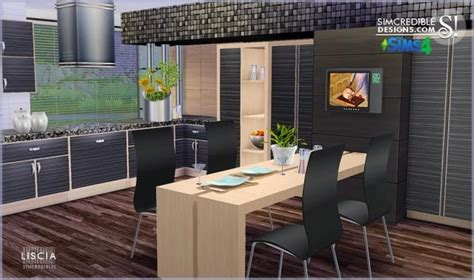 liscia kitchen  simcredible designs  sims  updates