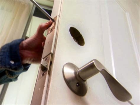 Changing Locks On Door by How To Replace A Door Lockset