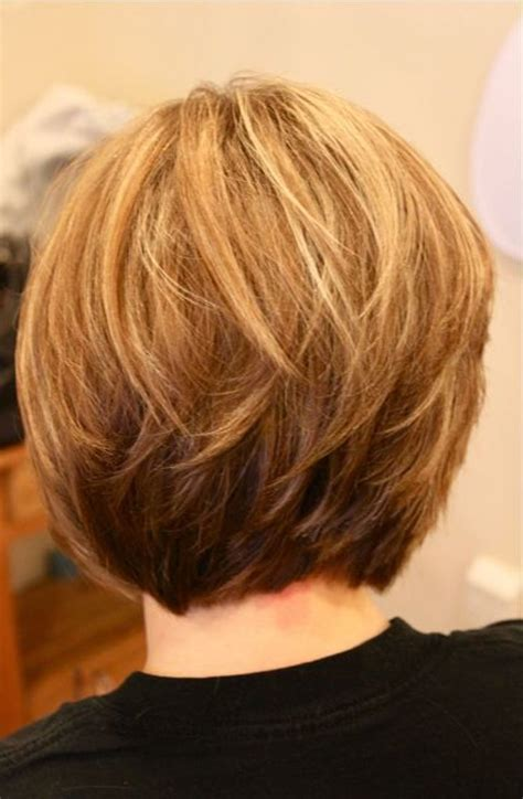 layered vs non layered bob back view of layered bob hairstyles ideas