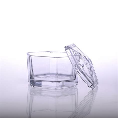 designer candle at home unique hexagon design candle glass wholesale for home