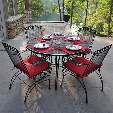 wrought iron patio table pros and cons of wrought iron patio furniture