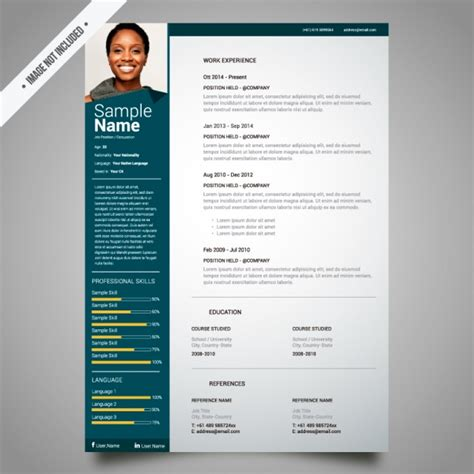 Curriculum Vitae Template Free by Curriculum Template Design Vector Free