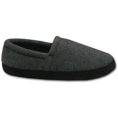 house shoes walmart muk luks men s fleece espadrille slipper walmart com