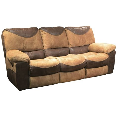 saddle leather reclining sofa catnapper portman reclining sofa in saddle and chocolate