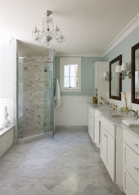 mystery white marble bathroom traditional with gray shower