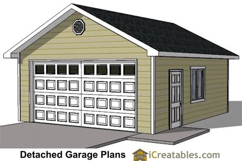20 x 24 garage plans 20x24 1 car detached garage plans and build