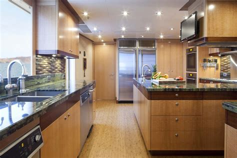 yacht galley layout luxury charter yacht ariana just 200k per week capelux