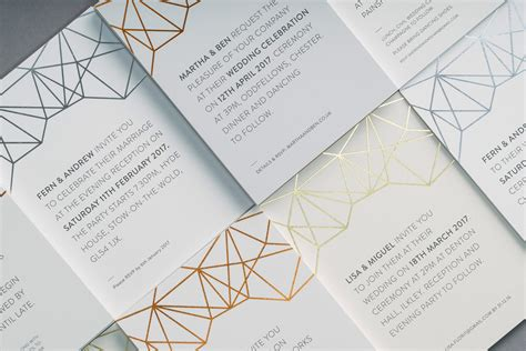 wedding invitations 2016 trends luxury wedding stationery trends 2018 the foil invite company